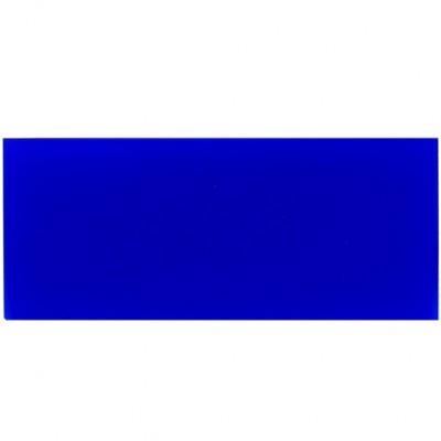 Campione - plexiglass blu oltremare opalino per il taglio laser